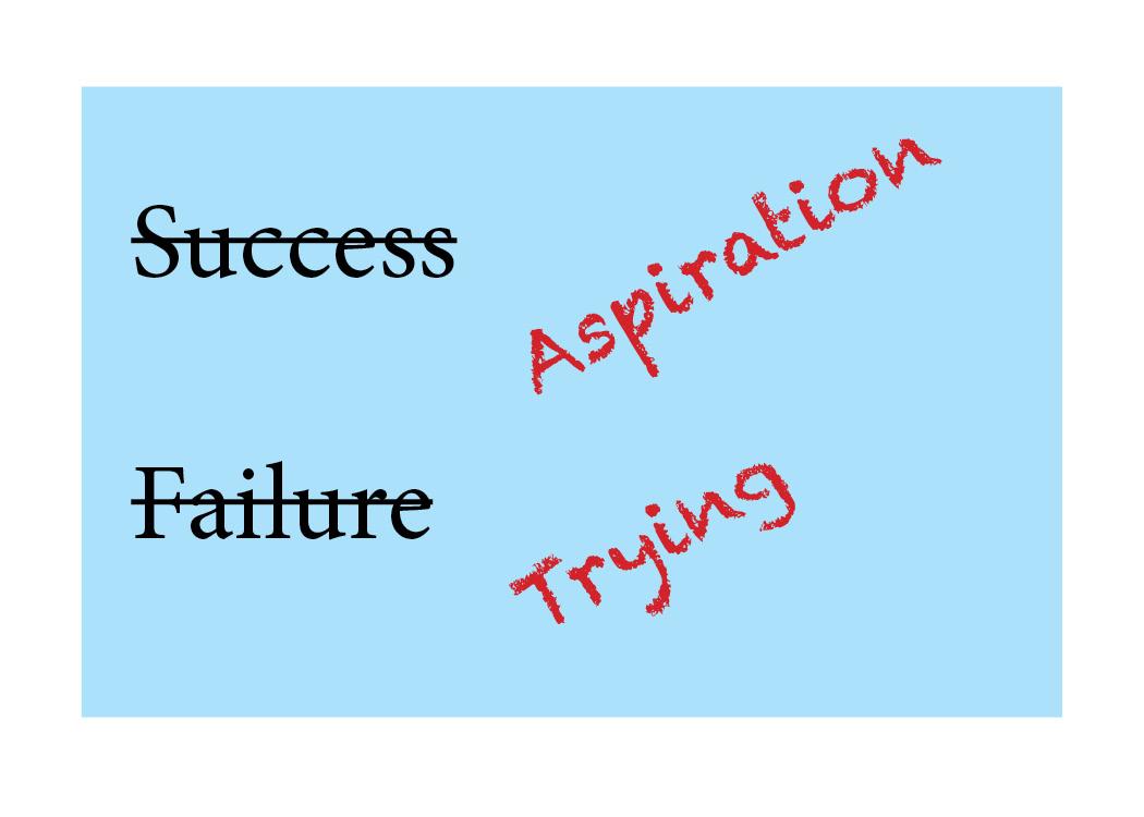 "Finding An Alternative to ""Success-Failure"" Speak"